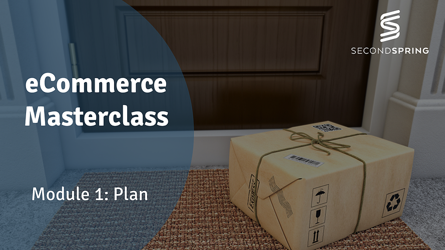 PLAN - Module 1 - eCommerce MasterClass 5-JAN-21
